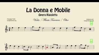 Video La Donna e Mobile Partitura de Violín Flauta Travesera y Oboe Ópera Rigoletto download MP3, 3GP, MP4, WEBM, AVI, FLV Mei 2018