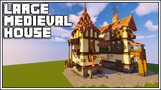 Minecraft Large Medieval House Tutorial