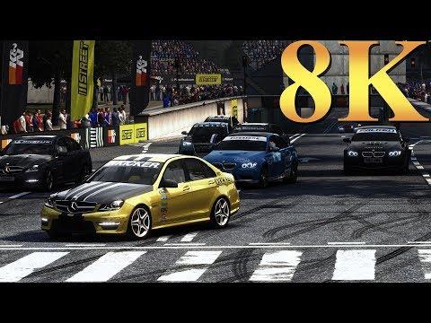 GRID Autosport 8K Gameplay Titan X Pascal 4 Way SLI PC Gaming 4K | 5K | 8K and Beyond