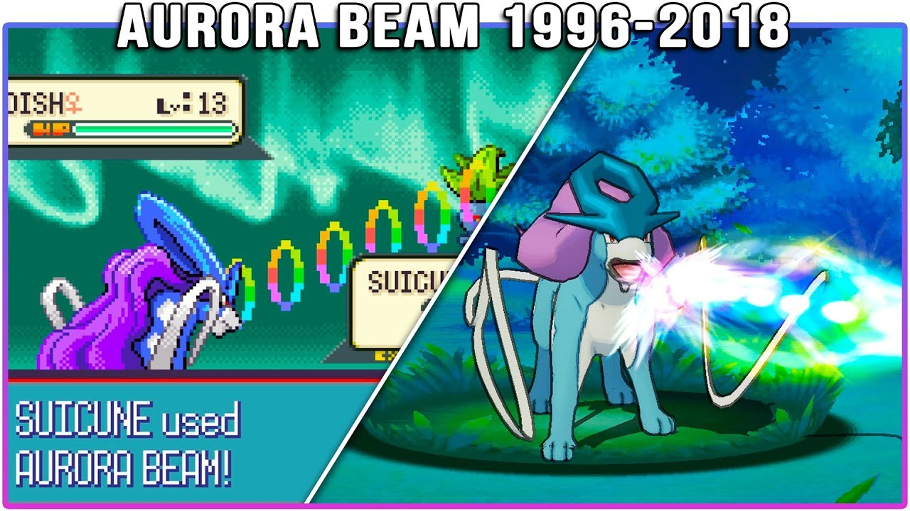 Evolution of Aurora Beam - Pokémon Moves (1996-2018)