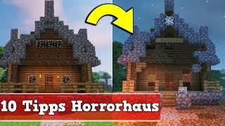 Minecraft 10 Tipps Für Ein Horror Haus | Minecraft Halloween Haus Bauen