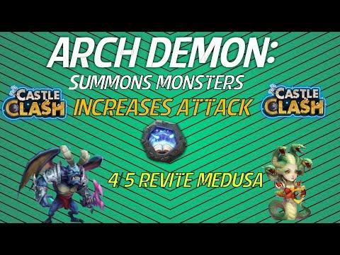 Castle Clash: Archdemon With A 4/5 Revite Medusa (1Billion DMG)