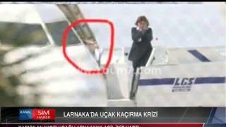 LARNAKA'DA UÇAK KAÇIRMA KRİZİ
