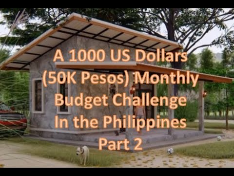 Tiny House in the Philippines - A 1K Dollars (50k Pesos) Monthly Budget  Challenge Part 2