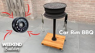DIY Car Rim BBQ Grill - Homemade Grill [subtitles included]