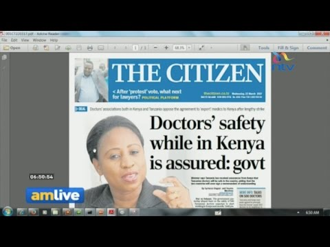 Are the 500 Tanzanian doctors coming to Kenya really safe?