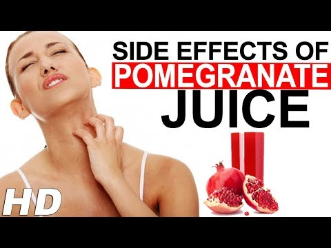 Side effects Of Pomegranate Juice On A Body You Should Know