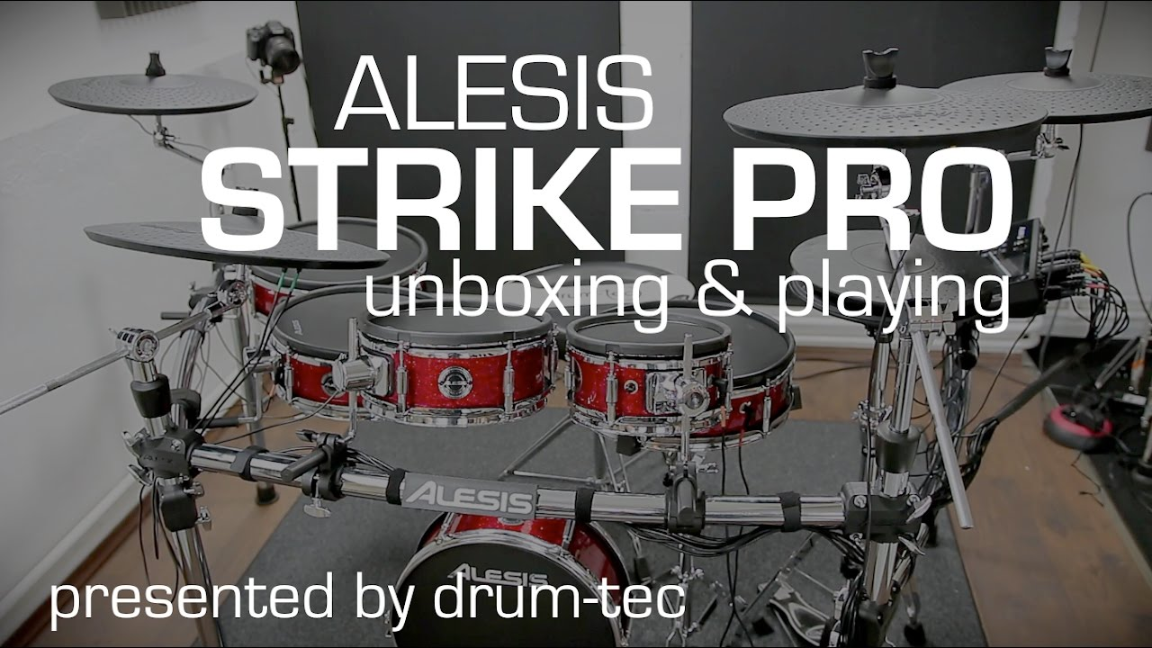 Alesis Strike Pro Electronic Drums Unboxing Setup Playing With