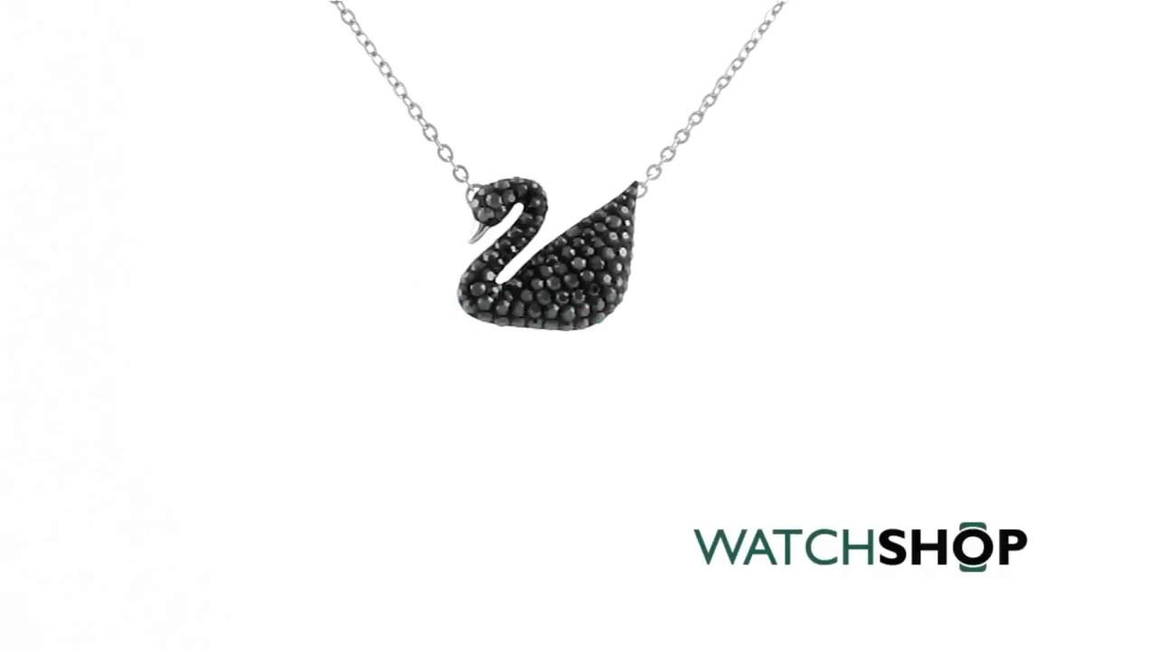 dbefda693200 Ladies Swarovski Rhodium Plated Iconic Swan Necklace (5347329) - YouTube