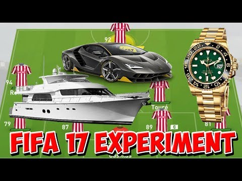 COULD THE HIGHEST PAID PLAYERS WIN THE PREMIER LEAGUE?!? - FIFA 17 EXPERIMENT