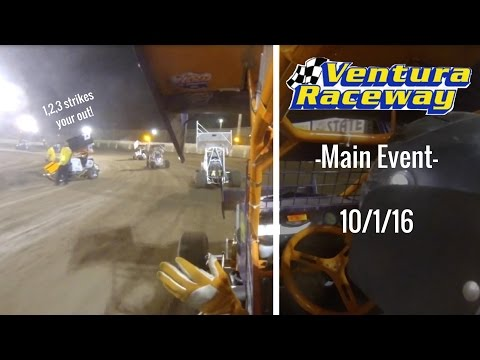 California Lightning Sprint at Ventura Raceway -Main Event- 10/1/16