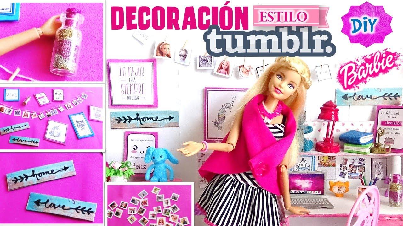 4 ideas para decorar habitaci n de mu eca barbie estilo On ideas para decorar la habitacion tumblr