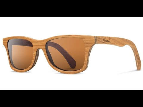 16f2efe6aa Shwood Eyewear Canby Wood Sunglasses - Handmade in USA - YouTube