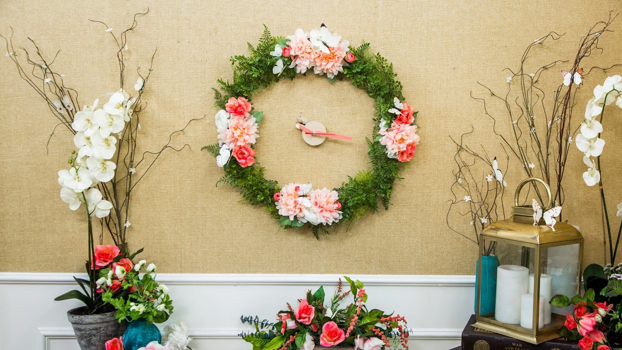 DIY Floral Wall Clock - Home & Family - YouTube