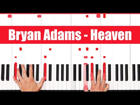 Heaven Bryan Adams Piano Tutorial - INSTRUMENTAL