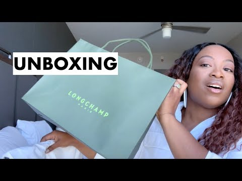 LONGCHAMP LARGE LE PLIAGE TOTE: HANBADG UNBOXING | LEMOMLIFE™