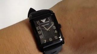 men s emporio armani classic black watch ar0499