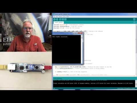 Arduino with Python LESSON 16: Simple Client Server Model Over Ethernet