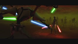 Star Wars: The Clone Wars - Asajj Ventress vs. General Grievous [1080p]