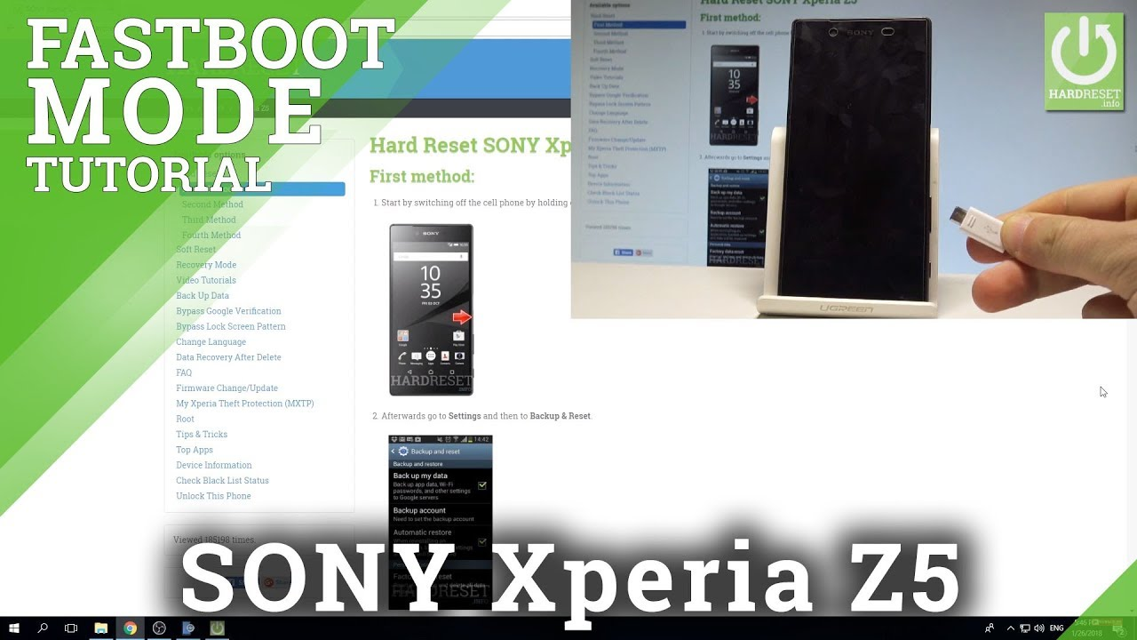Fastboot Mode SONY Xperia Z5 - All SONY Xperia Fastboot Tutorial