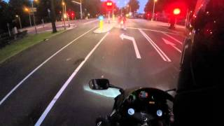 Honda CBR600F4 Onboard with Ducati Monster 600