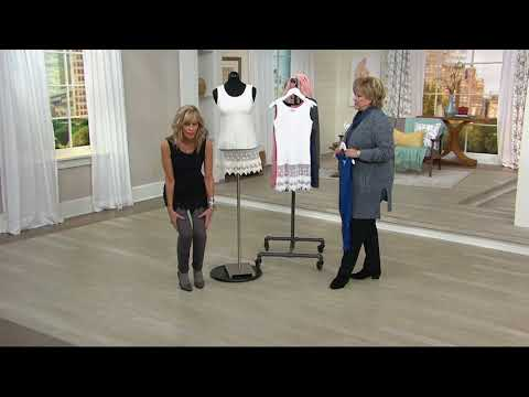 Kathleen Kirkwood Layering Tank With Lace Extender On QVC