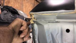 how to seam seal trunk and rear of a vehicle DIY do it yourself chevelle