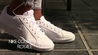 outlet store 25bd6 5b7cf Nike Court Royale White On Feet