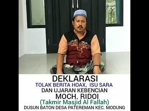 Deklarasi Tolak Politisasi Dlm Masjid Dari Tahmir Masjid Al Falla Desa Patereman Kec  Modung