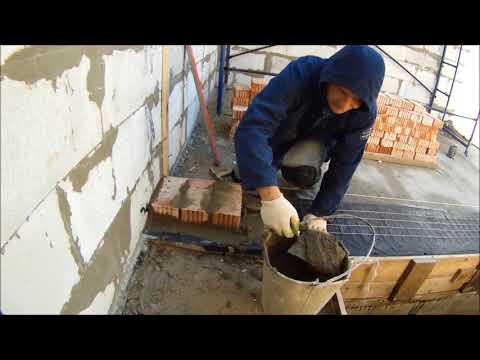 Стенка в один кирпич под плиты перекрытия - начало!