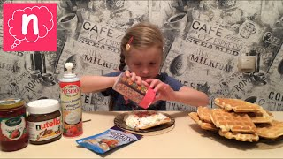 💖Венские вафли видео рецепт💖Viennese wafers.Belgian waffles. Recipe.Nutella.Whipped cream.Сливки💖