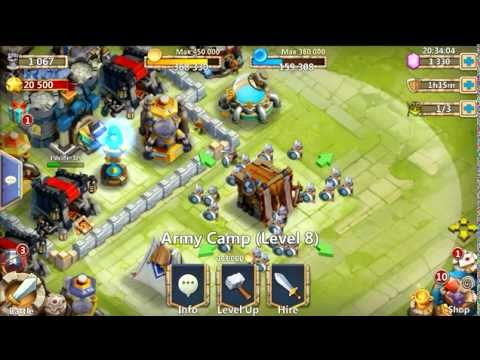 Castle Clash Upgrading Level 8 Army Camp!
