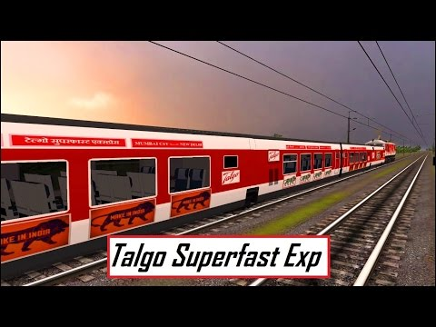 New Delhi Kanpur Talgo Express in MSTS Open Rails by Sumit Mehrotra