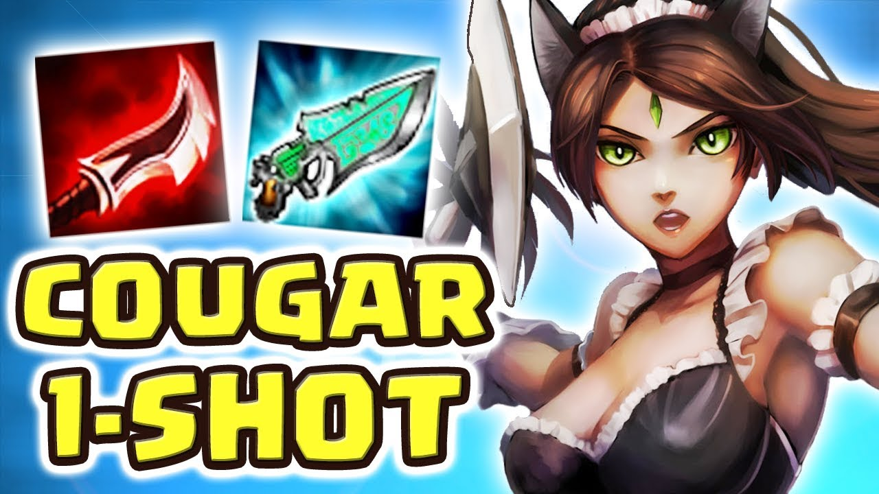 THE LEGENDARY COUGAR ONLY 1-SHOT | MOST UNBELIEVABLE NIDALEE JUNGLE | CRAZIEST BUILD Nightblue3