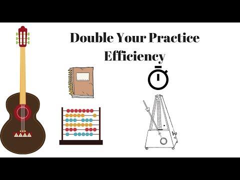 DOUBLE Your Efficiency in the Practice Room - Guitar Practice How To