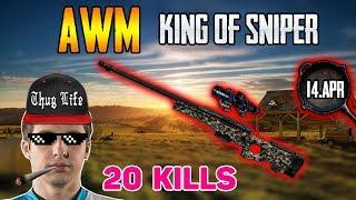 AWM King of Sniper - Shroud solo FPP 14-Apr - PUBG HIGHLIGHTS TOP 1 #90