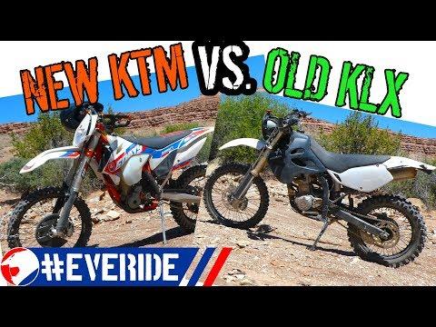 KTM 350 XCF-W Six Days vs. Modded Kawasaki KLX 250