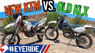 The 2016 KTM 350 XCF-W Six Days Edition versus a heavily modified 1...