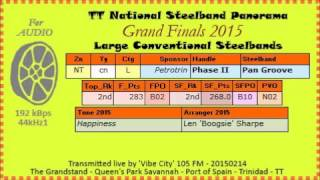 TT Steelband Panorama 2015 Finals, Large. Phase II Pan Groove - Happiness (Len