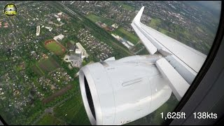 MUST SEE!!! A320neo circling around thunderstorms on short final, BREATHTAKING! [AirClips]