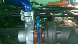 С турбиной, первый запуск . Мтз-82 . 03092015 .Turbo MTZ-82