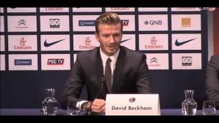 David Beckham signe au PSG pour un contrat de 5 mois (conférensse de présse)
