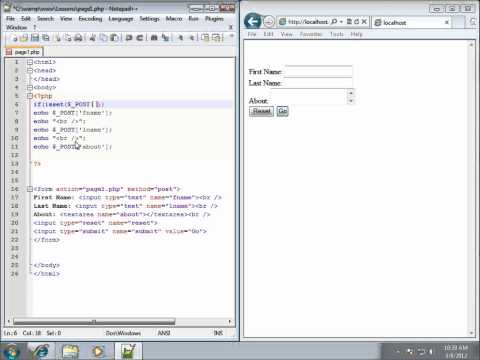 PHP Lesson 28 - Working with the ISSET Function
