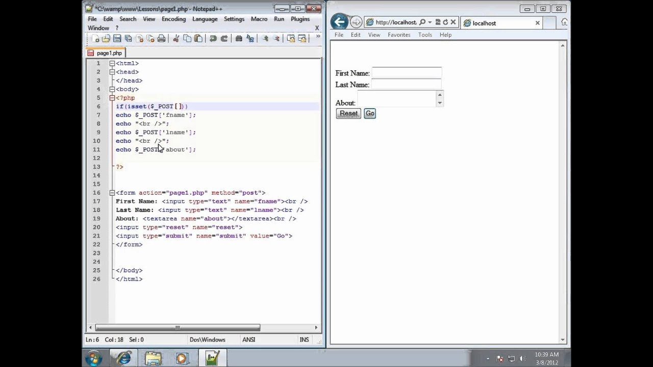 php lesson 28 working with the isset function youtube