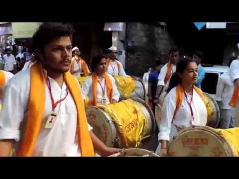Shreesh Desai Youngest Dhol Player in गजवक्र gajvakra dhol tasha pathak Pune 2016 5th September