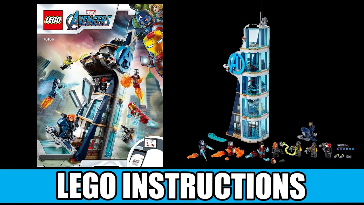 LEGO Instructions: How to Build Avengers Tower - 76166 ...