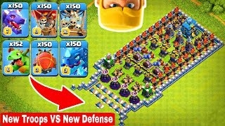 🔥Who Can Survive This Difficult Trap on COC? Trap VS Troops #3