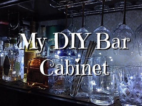 DIY Bar Cabinet Upcycle