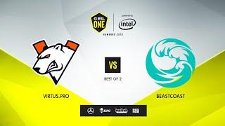 Virtus.pro vs beastcoast, ESL One Hamburg 2019, bo2, game 1 [Maelstorm \u0026 Jam]