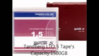 Tandberg Data 1500GB/3000GB LTO-5 / 20PK Backup Tape (w/ Pre-Fit | Data Storage Cartridge
